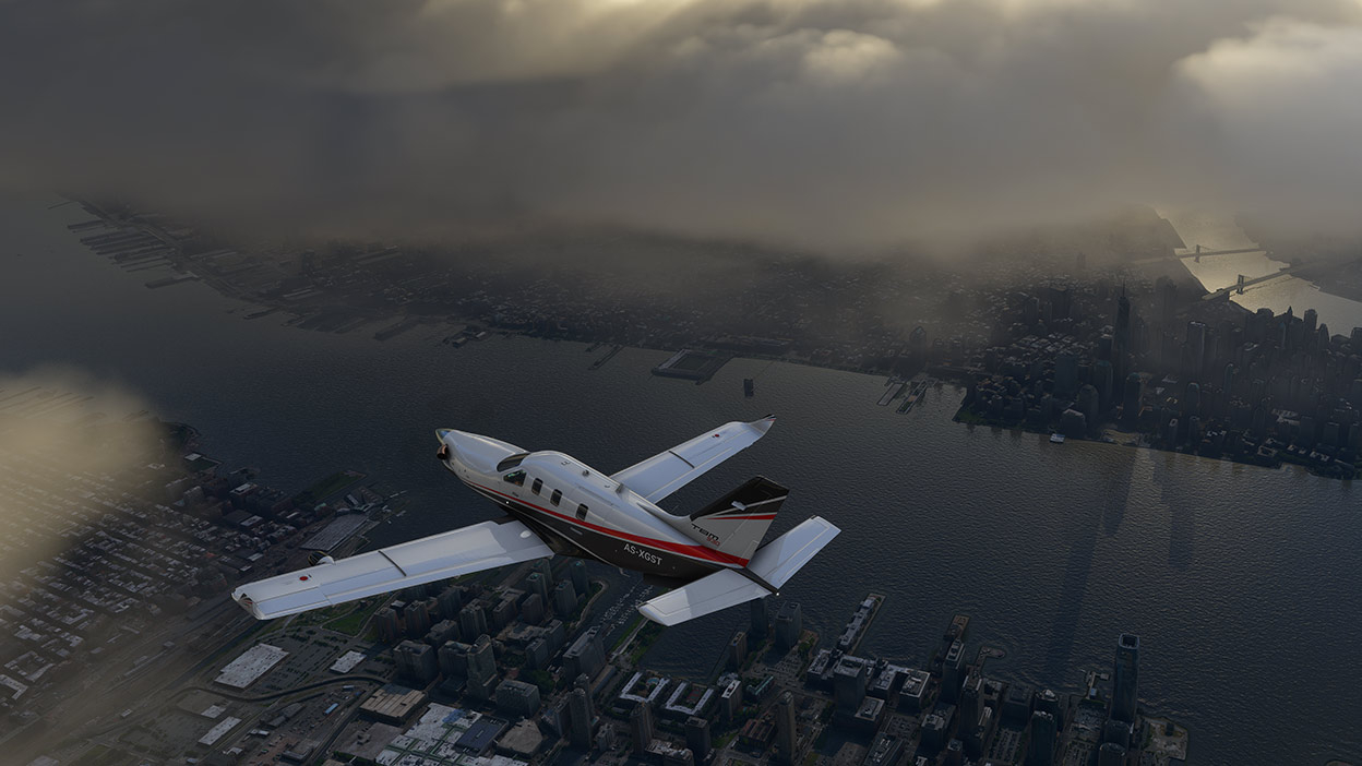 Видео: игрок в Microsoft Flight Simulator залетел в самый центр урагана Лаура