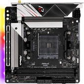 Материнская плата ASRock B550 Phantom Gaming ITX/ax на чипсете AMD B550: Ryzen 5000 с разгоном для компьютера формата Mini-ITX